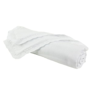 Baby Shower Gift Ideas: White Baby Blankets