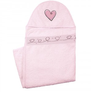 Pink Hooded Bath Towel