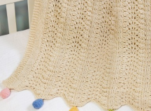 A handmade receiving blanket of organic cotton will never irritate baby's skin.