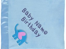 Boy Elephant Blanket - Personalized