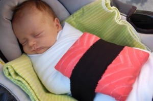 if its swaddling your baby demands this sushi costume is a cinch