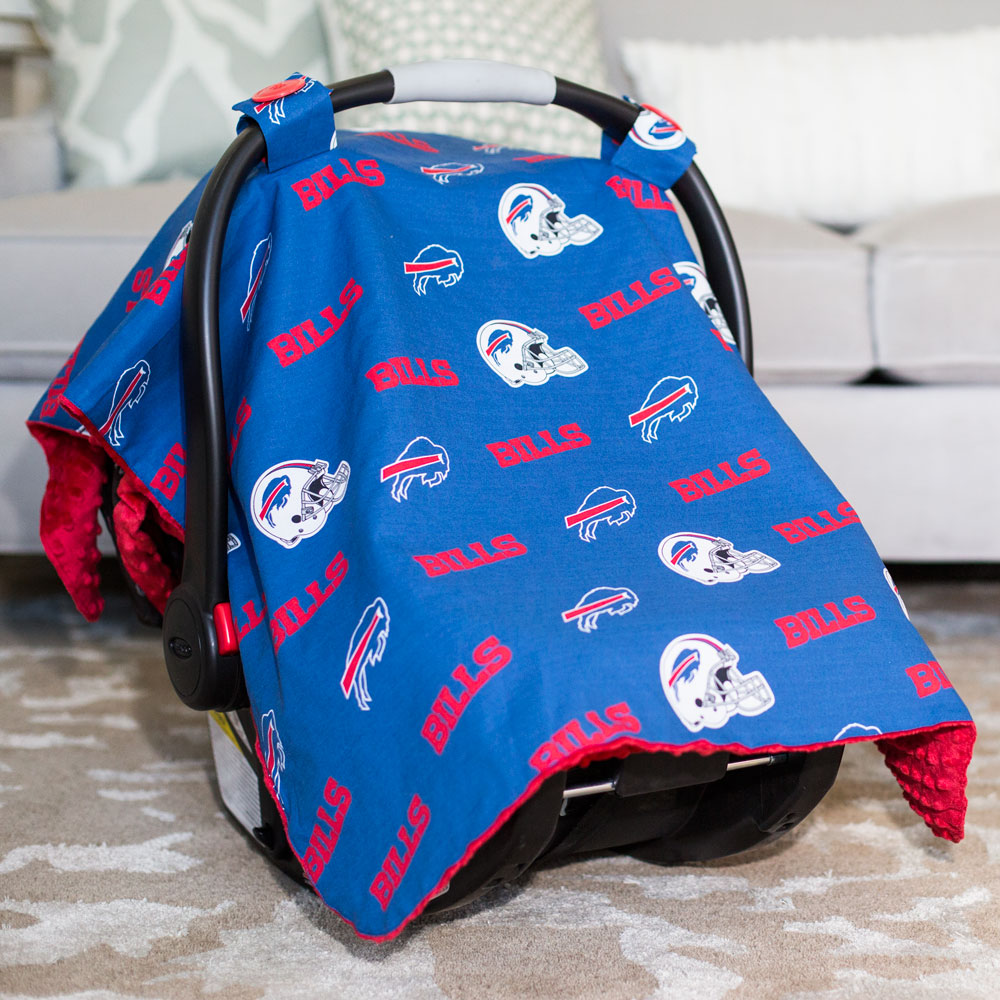 Buffalo Bills Baby Gear Carseat Canopy Cover Nfl Licensed