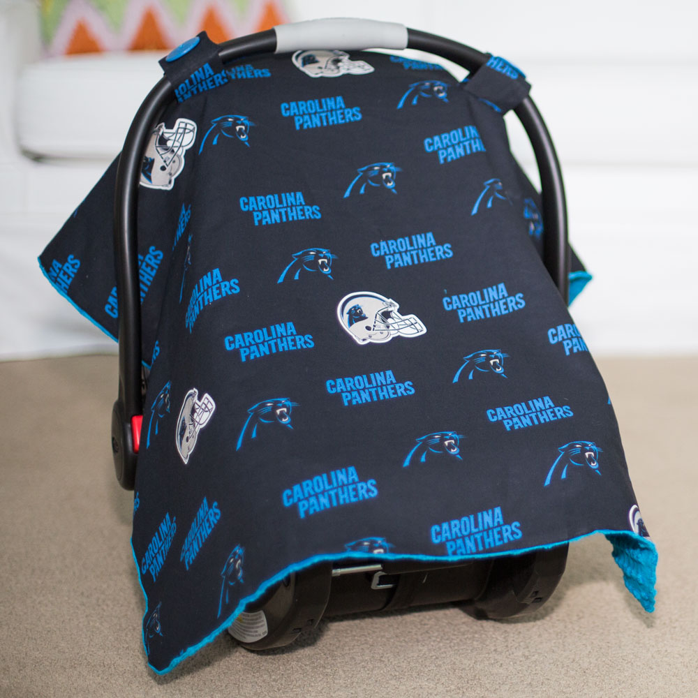 Carolina Panthers Baby Gear Carseat Canopy Cover Nfl