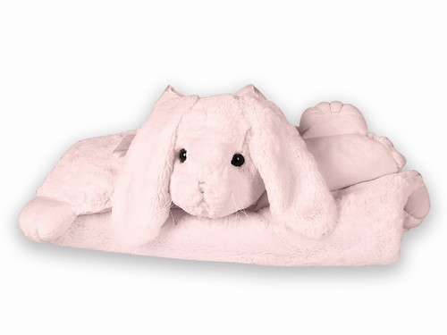 Cottontail Pink Bunny Rabbit Belly Blanket Bearington