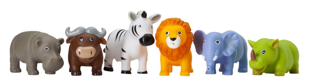 27f4299d1078e Party Squirties - Jungle Animal Bath Toys - Elegant Baby