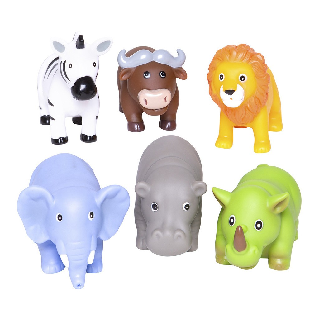 Party Squirties Jungle Animal Bath Toys Elegant Baby