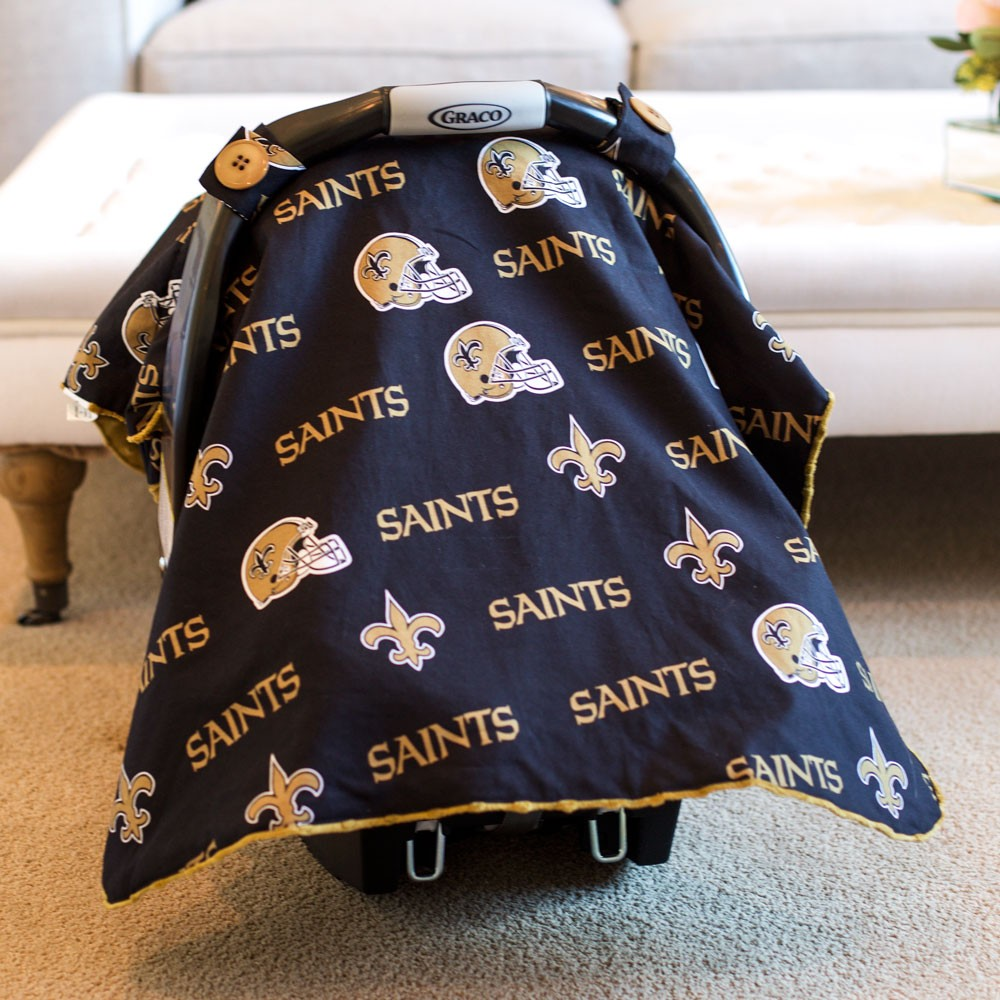 New Orleans Saints Baby Gear Carseat Canopy Cover NFL