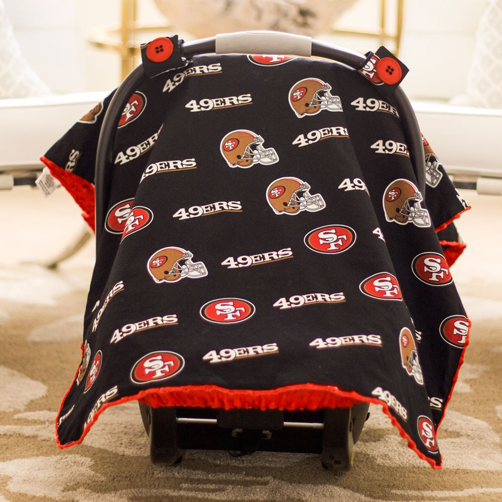 San Francisco 49ers Baby Gear Carseat Canopy Cover NFL