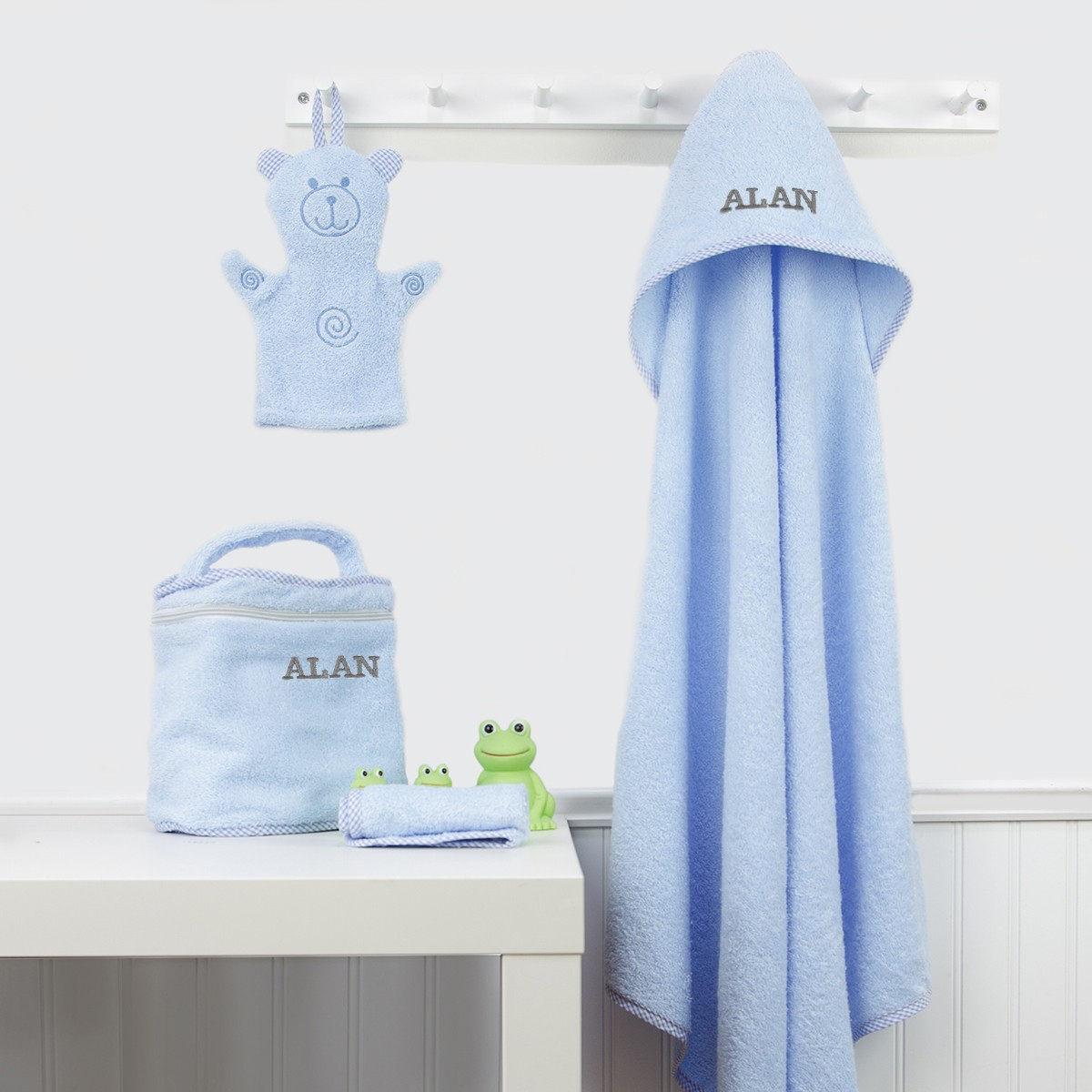 Bath Towel Set Blue Trend Lab