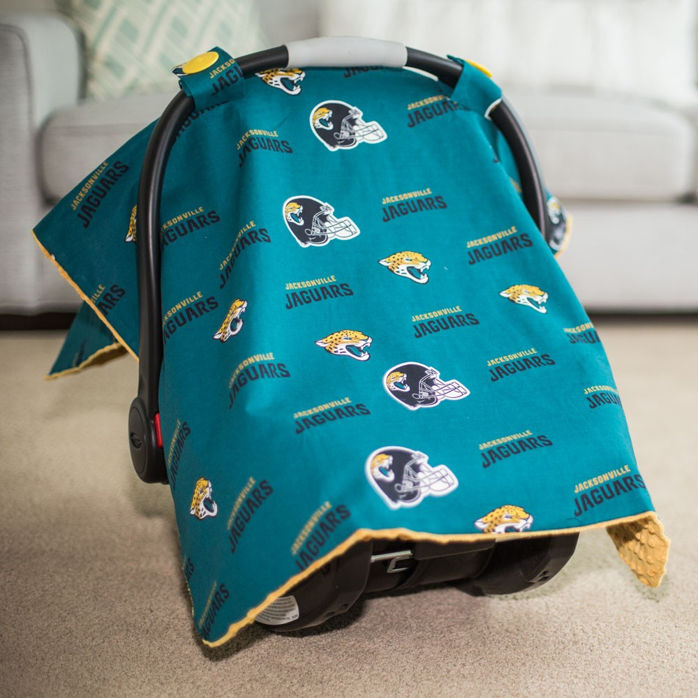 & Jacksonville Jaguars Baby Gear: Carseat Canopy Cover NFL Licensed