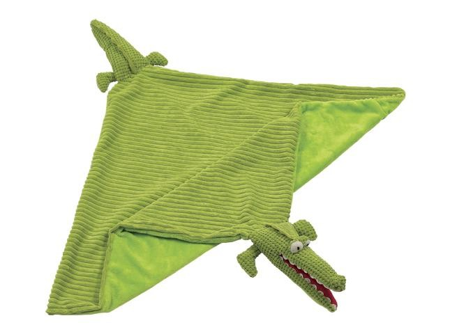 Maison Chic Alligator Blanket Green