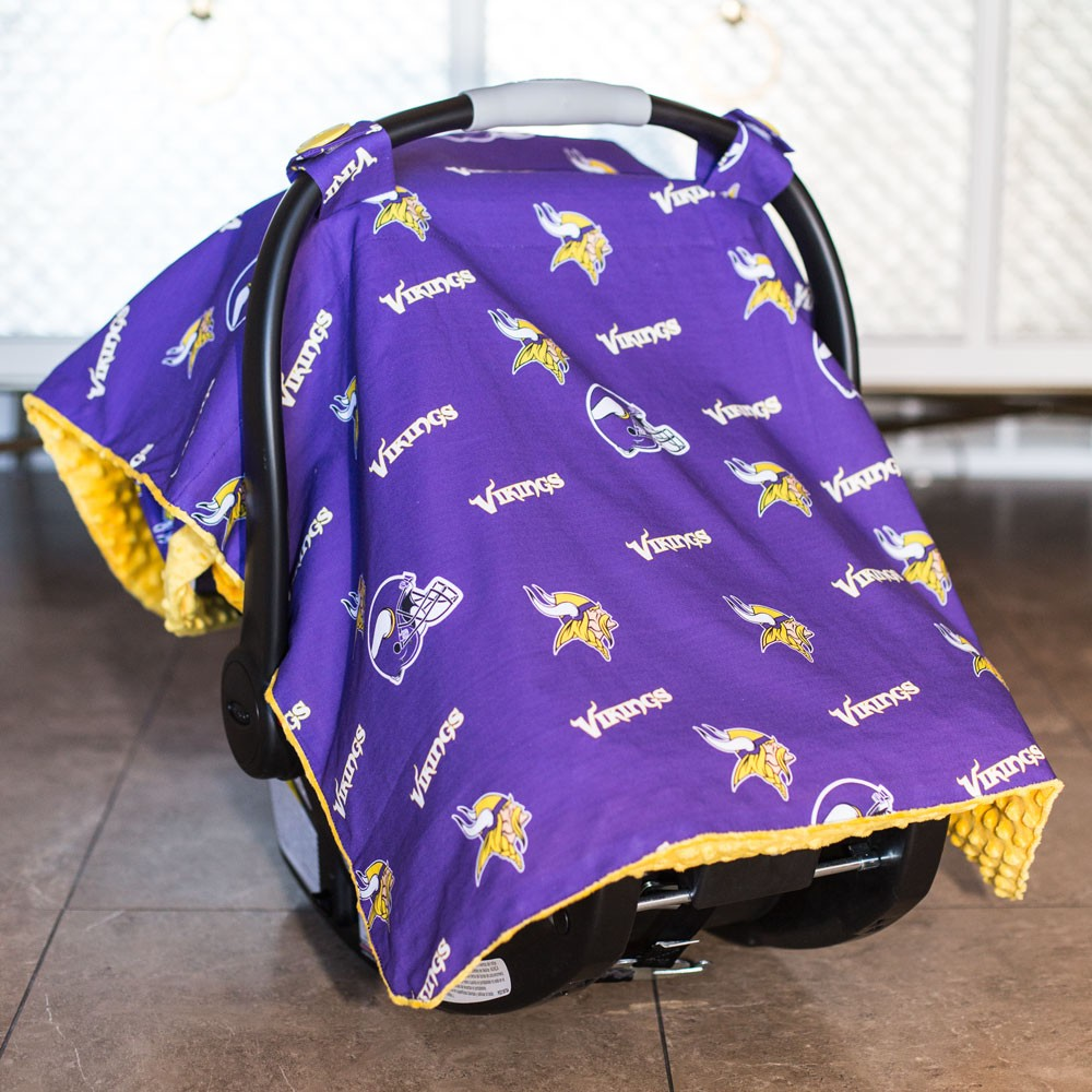 Minnesota Vikings Baby Gear Carseat Canopy Cover NFL Licensed