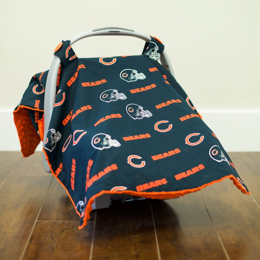& Chicago Bears Baby Gear: Carseat Canopy Cover NFL Licensed