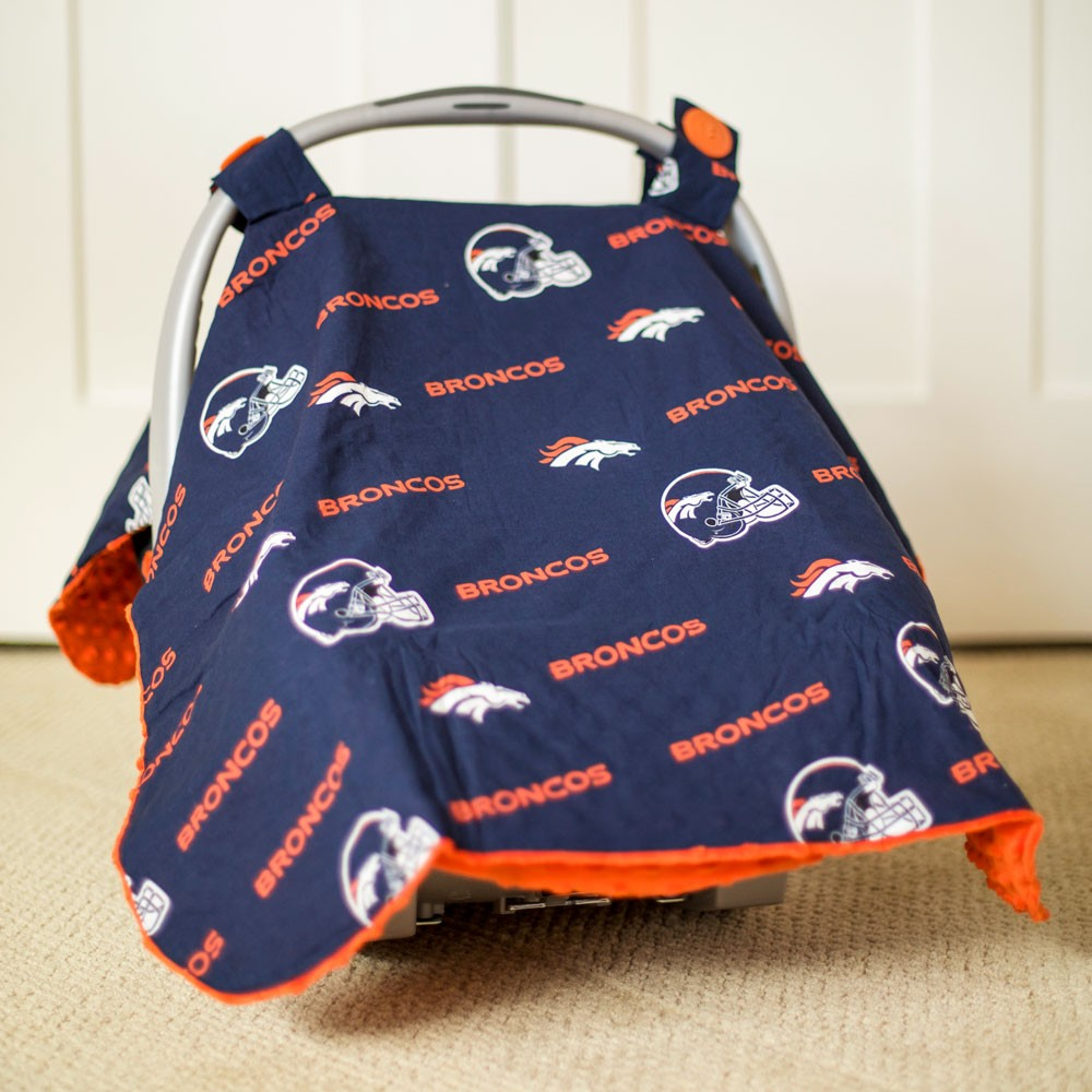 & Denver Broncos Baby Gear: Carseat Canopy Cover NFL Licensed
