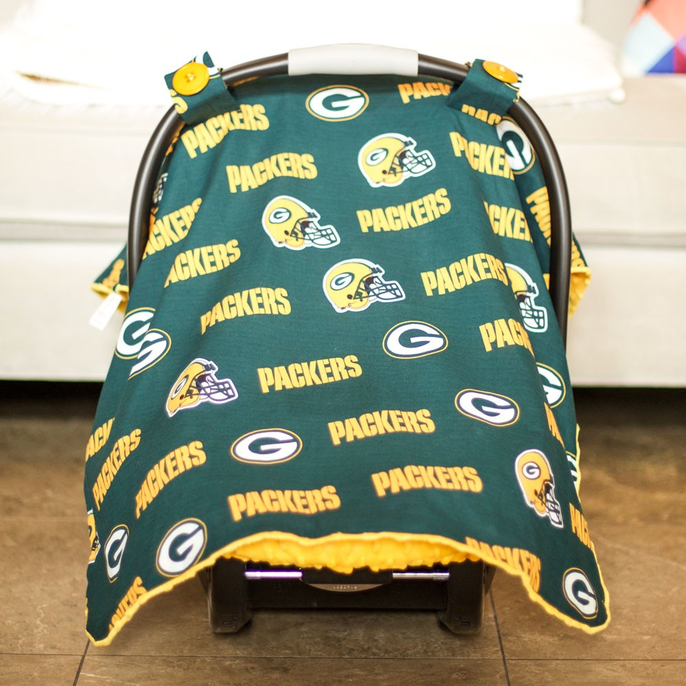 & Green Bay Packers Baby Gear: Carseat Canopy Cover NFL Licensed