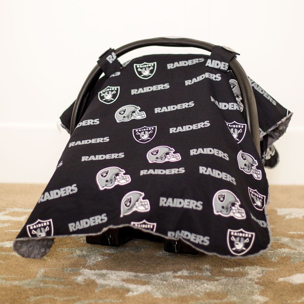 & Oakland Raiders Baby Gear: Carseat Canopy Cover NFL Licensed