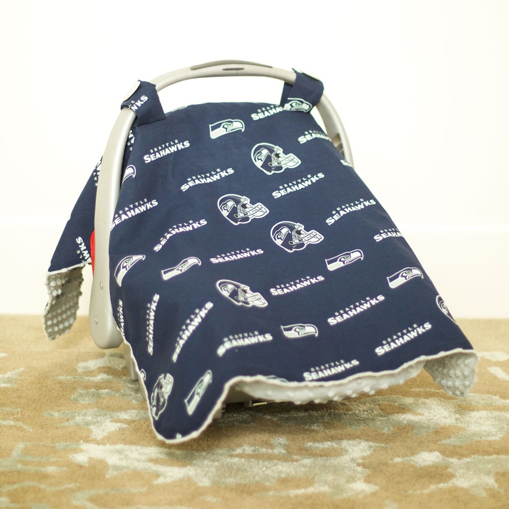 & Seattle Seahawks Baby Gear: Carseat Canopy Cover NFL Licensed