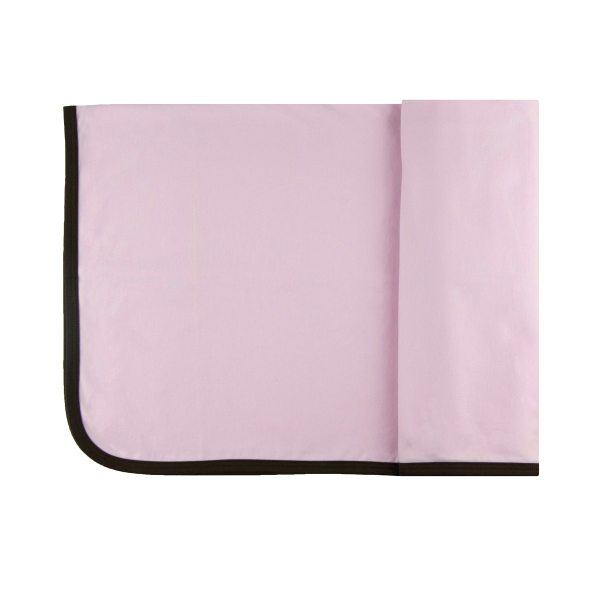 personalized ribbed pima cotton blanket pink