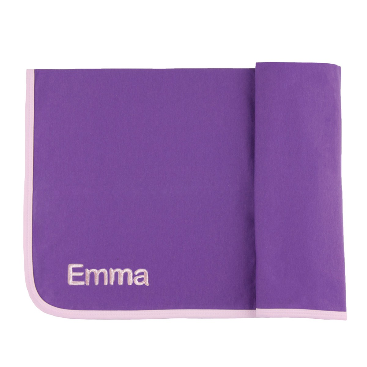 personalized ribbed pima cotton blanket purple
