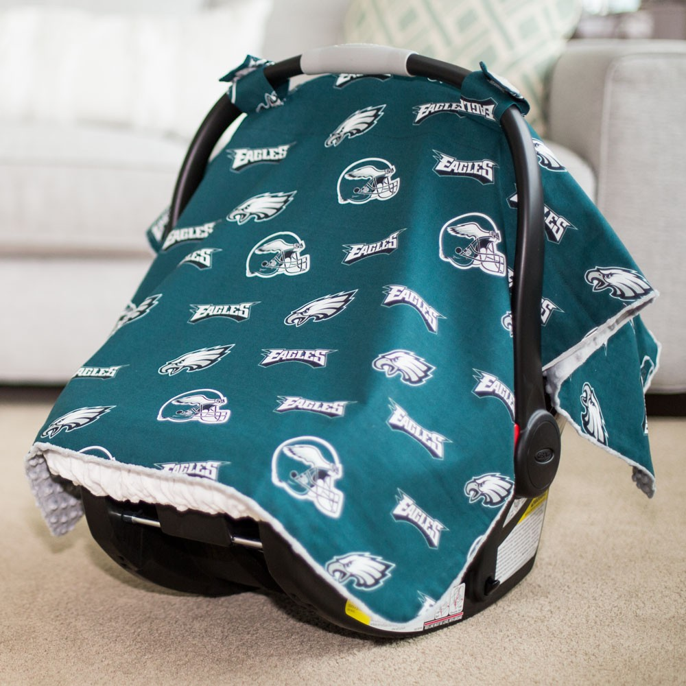 & Philadelphia Eagles Baby Gear: Carseat Canopy Cover NFL Licensed