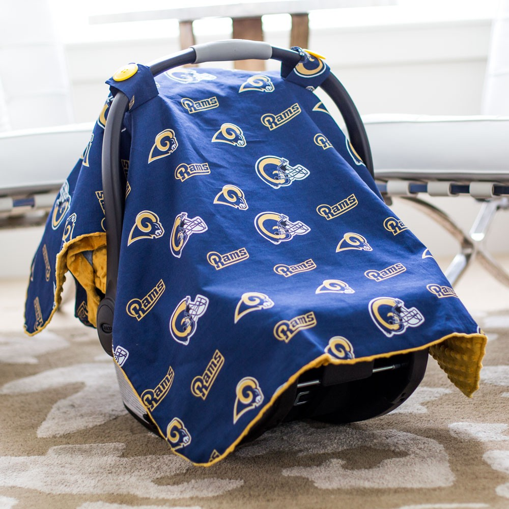 St Louis Rams Baby Gear Carseat Canopy Cover NFL Licensed