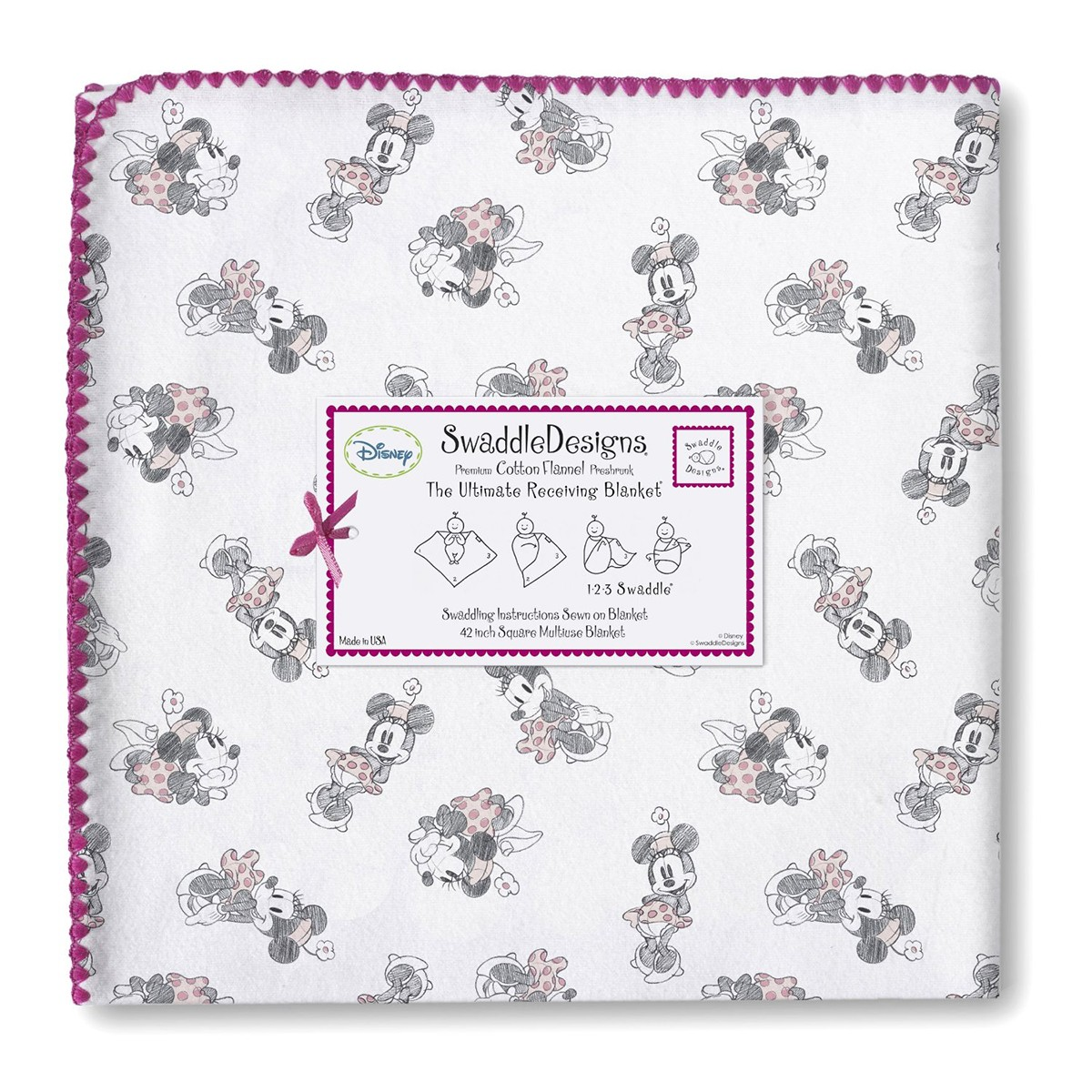 Minnie Mouse Red Ultimate Receiving Blanket Swaddle Designs