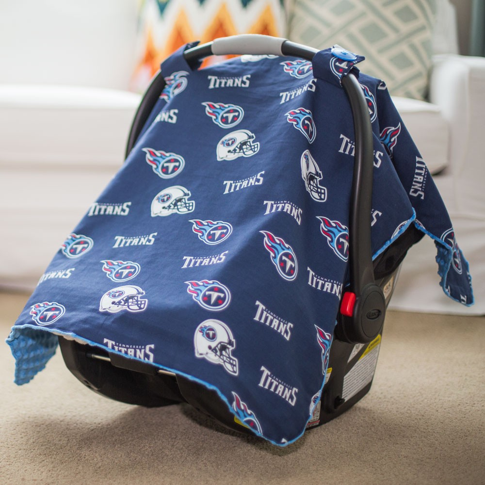 & Tennessee Titans Baby Gear: Carseat Canopy Cover NFL Licensed