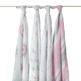 Aden + Anais Swaddling Wraps - For The Birds - 4 Pack
