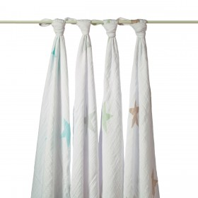 Aden + Anais Swaddling Wraps - Super Star Scout - 4 Pack