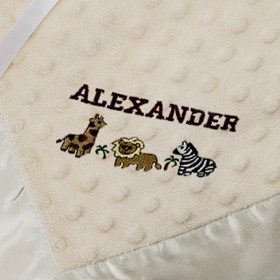 Dottie Personalized Snuggle Blanket, Cream - Bearington