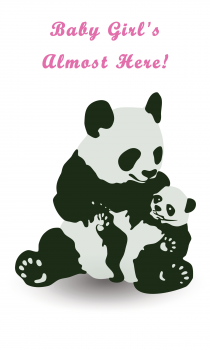 Panda Greeting Card for Baby Girl