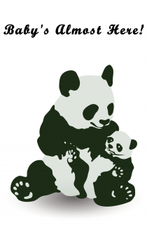 Panda Greeting Card for Baby - Unisex
