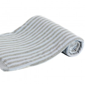 Basic Essential Blanket, Light Blue & Gray Stripes, Angel Dear