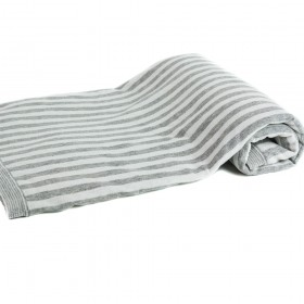 Basic Essential Baby Blanket, Heather & Gray Stripes, Angel Dear