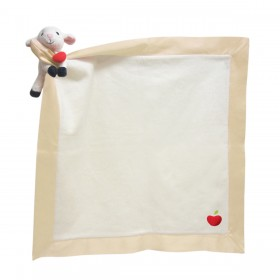 Personlized Apple Park Blankie With A Toy - Lamby