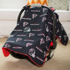 Atlanta Falcons Baby Gear: Carseat Canopy Cover, NFL Licensed