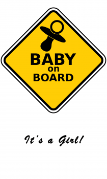 Baby Girl on Board Greeting Card