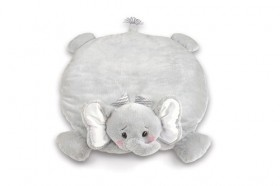 Lil' Spout Gray Elephant Belly Blanket - Bearington