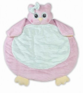 Lil' Hoots Pink & Green Owl Belly Blanket - Bearington