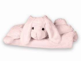 Cottontail Pink Bunny Rabbit Belly Blanket - Bearington