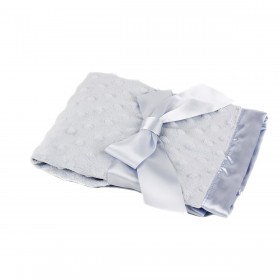 Blue Dottie Blankie - Bearington
