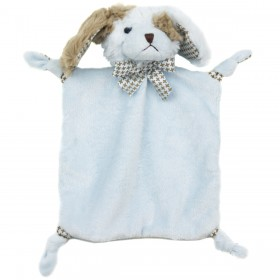 Small Blue Baby Lovey - Wee Waggles Boy Dog, Bearington