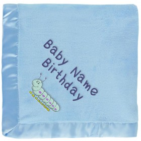 Blue Caterpillar Baby Blanket for Boys