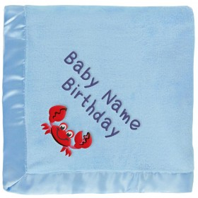 Customized Boys' Baby Blanket - Red Crab