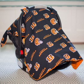 Cincinnati Bengals Baby Gear: Carseat Canopy Cover, NFL Licensed