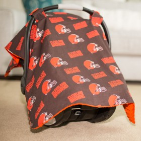 Cleveland Browns Baby Gear: Carseat Canopy Cover, NFL Licensed