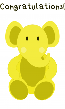 Elephant Greeting Card for Baby - Unisex