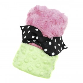 Plush And Goosebumps Blankie - Pink/Green