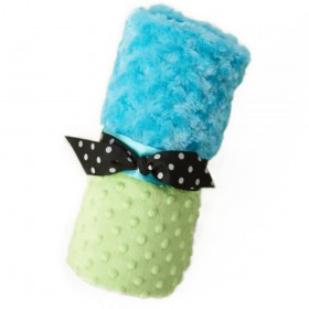 Plush And Goosebumps Blankie - Turquoise/Green