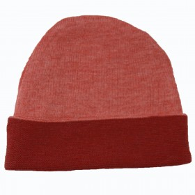 Knit Double Face Cap - Red